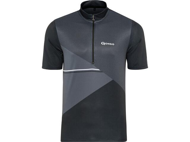 Gonso Ripo Maglia Da Ciclismo Con Mezza Zip Uomo, black